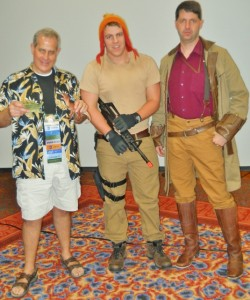 Firefly - Wash, Jane, and Mal costumes at Lone Star Con 2013