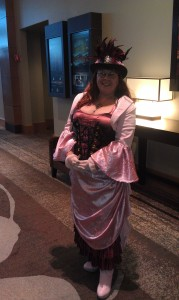 "A costume created for Steamcon V. I was inspired by a My Little Pony named ""Pinkie Pie""."