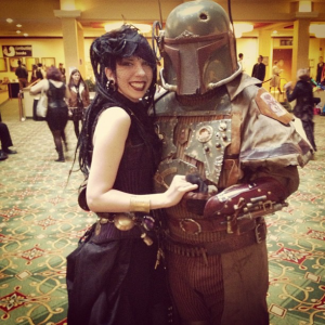 Karina Cooper with Steampunk Boba Fett